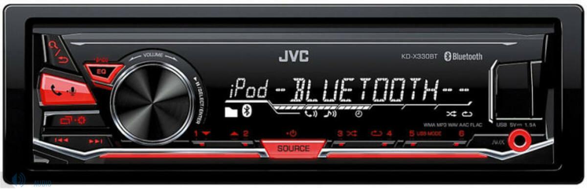 JVC KD-X330BT mechanika nélküli fejegység