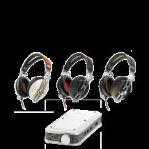 Sennheiser MOMENTUM G Ivory+Denon DA-10 fejhallgató erősítő