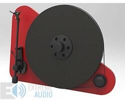 Pro-Ject VT-E L bal kezes analóg lemezjátszó piros Orofon OM5e hangszedővel szerelve