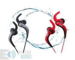 JVC HA-ETR40B Vízálló Motion Fit mikrofonos fülhallgató fekete