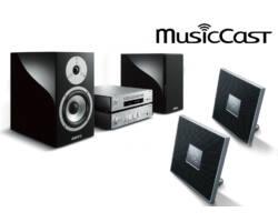 Yamaha MCR-N870 Mikro Hi-Fi, ezüst + 2db ISX-80, 3 zónás sztereó szett