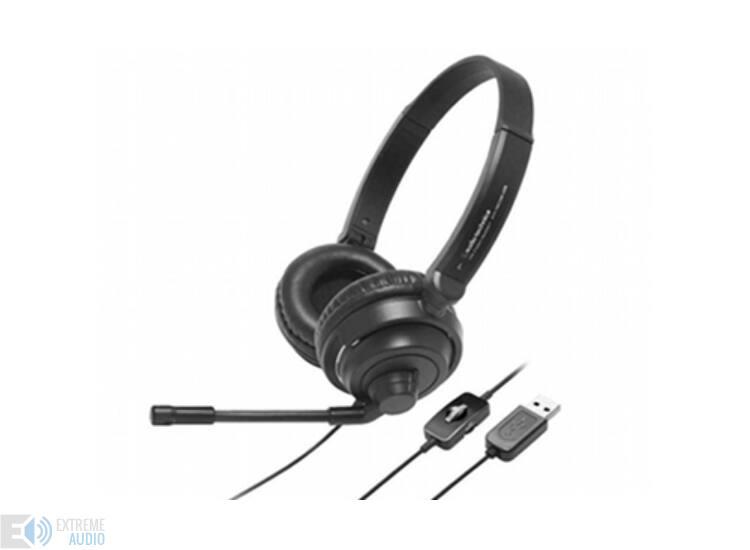 Audio-Technica ATH-750 COM Mikrofonos fejhallgató, MINTA DARAB