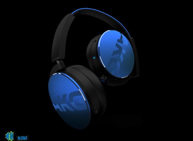 AKG Y50 BT Bluetooth fejhallgató, kék