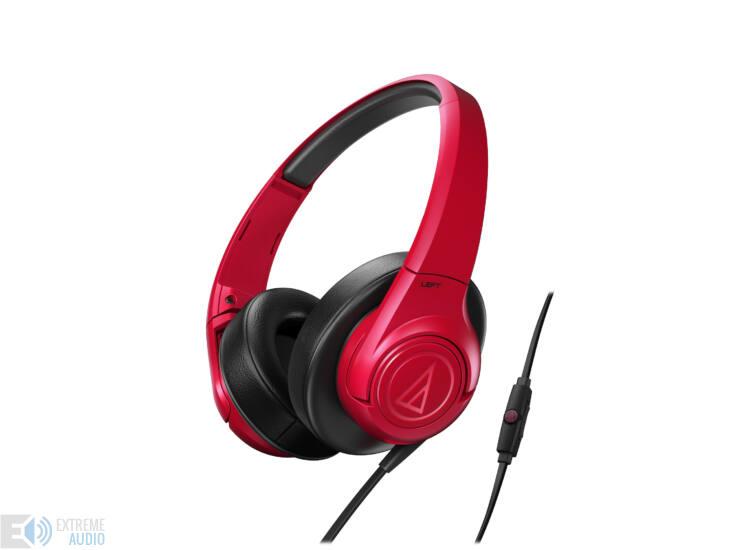 Audio-Technica ATH-AX3IS fejhallgató, piros