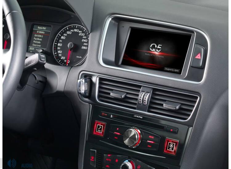 Alpine X701D-Q5 Audi specifikus fejlett navigációs rendszer