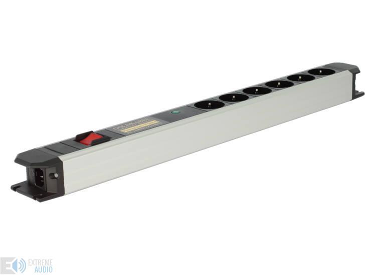 Goldkabel Powerline FLEX 6 tápelosztó főkapcsolóval