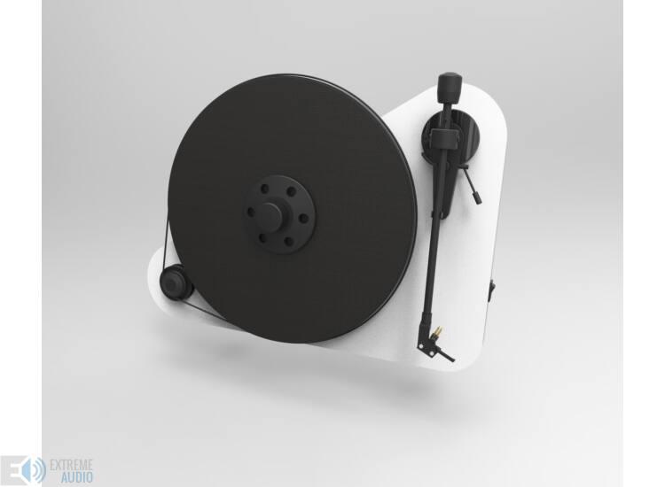 Pro-Ject VT-E R jobb kezes analóg lemezjátszó fehér Orofon OM5e hangszedővel szerelv-