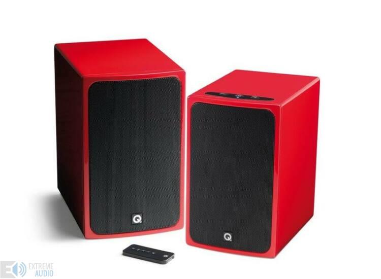 Q MEDIA BT3 magasfényű piros aktív bluetoothos hangfal