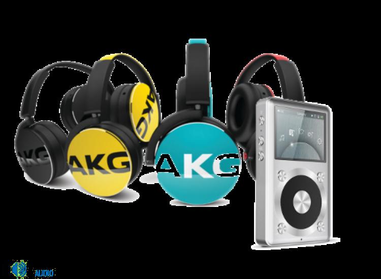 AKG Y50 fejhallgató, piros + FiiO X1