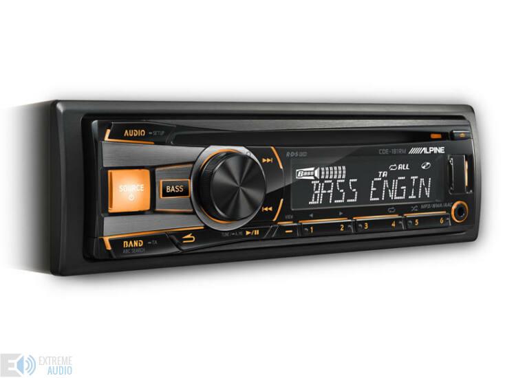 Alpine CDE-181 R/RM/RR autóhifi fejegység narancssárga