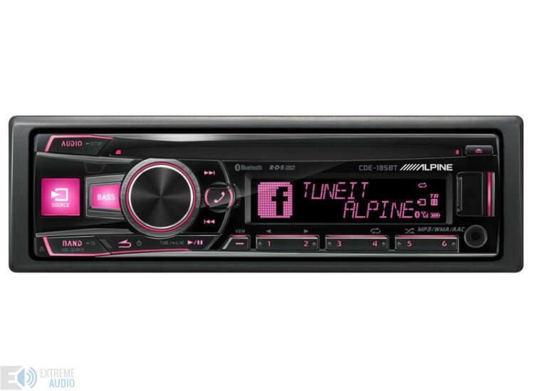 Alpine CDE-185BT CD fejlett Bluetooth® funkcióval rózsaszín