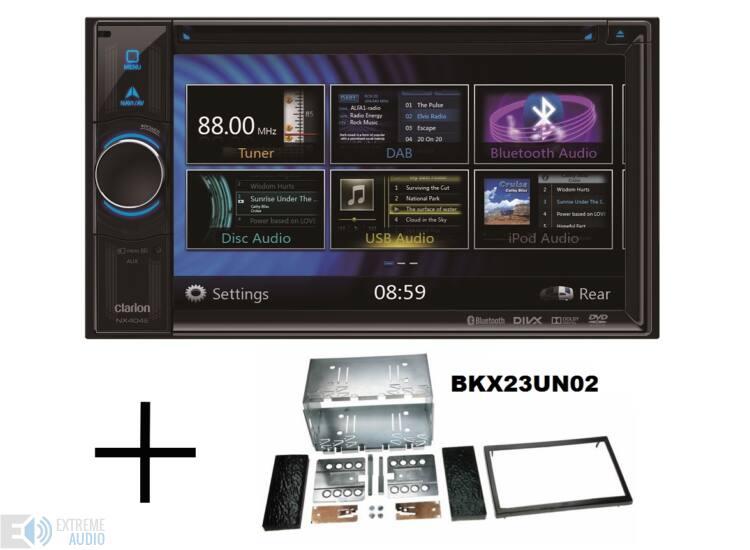 Clarion NX 404+keret 2 DIN multimédia lejátszó, navigációval
