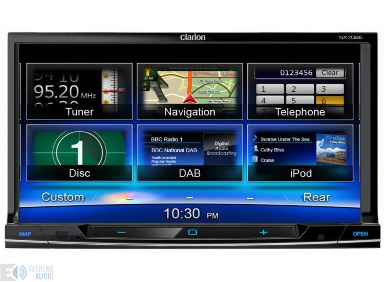 Clarion NX 702E 2 DIN multimédia lejátszó, navigációval