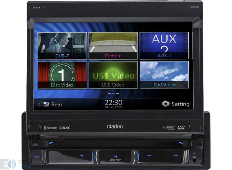 Clarion NZ 502E 1 DIN multimédia lejátszó, navigációval