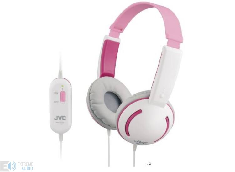JVC HA-KD10-P KIDS PRO fejhallgató, rózsaszín-fehér