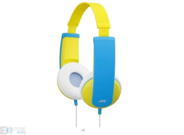JVC HA-KD5-Y KIDS fejhallgató, kék-sárga