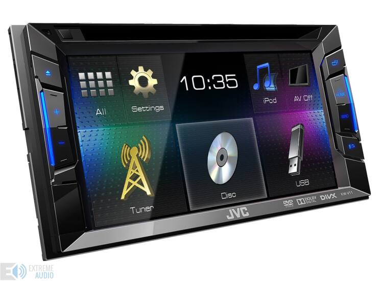 JVC KW-V11BT MP3/CD/DVD/USB-s 2 DIN-es fejegység