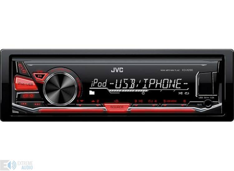 JVC KD-X230 mechanika nélküli fejegység