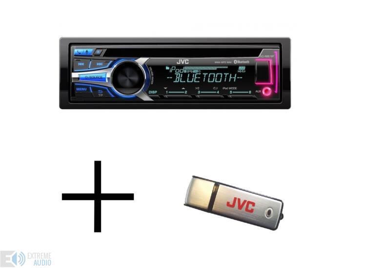 JVC KD-R951 + 8GB USB MP3/CD/USB/BLUETOOTH-os fejegység