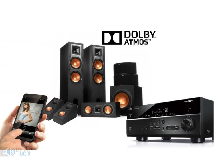 Yamaha RX-V681 +Klipsch R-28F 5.1.2 Dolby Atmos szett