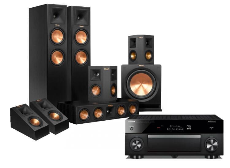 Klipsch RP-280F 5.1.2 + Yamaha RX-A1060 Dolby Atmos szett