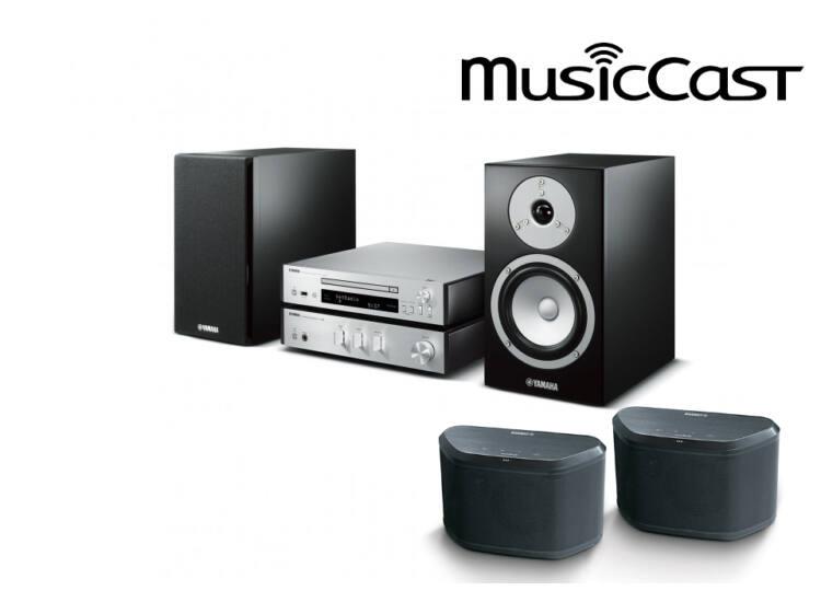 Yamaha MCR-N670 Mikro Hi-Fi, ezüst + 2db WX-030 MusicCast zóna hangszóró