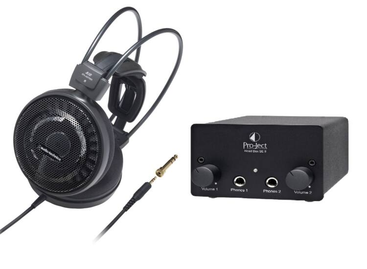 Audio-Technica ATH-AD700X fejhallgató + Pro-Ject Head box SE II