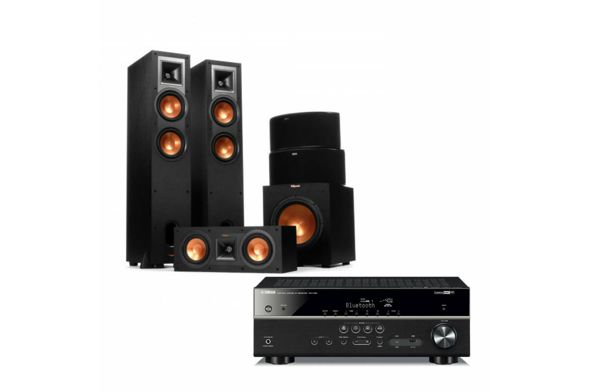 yamaha rx v481 fekete klipsch r 26f 5 1 szett. Black Bedroom Furniture Sets. Home Design Ideas