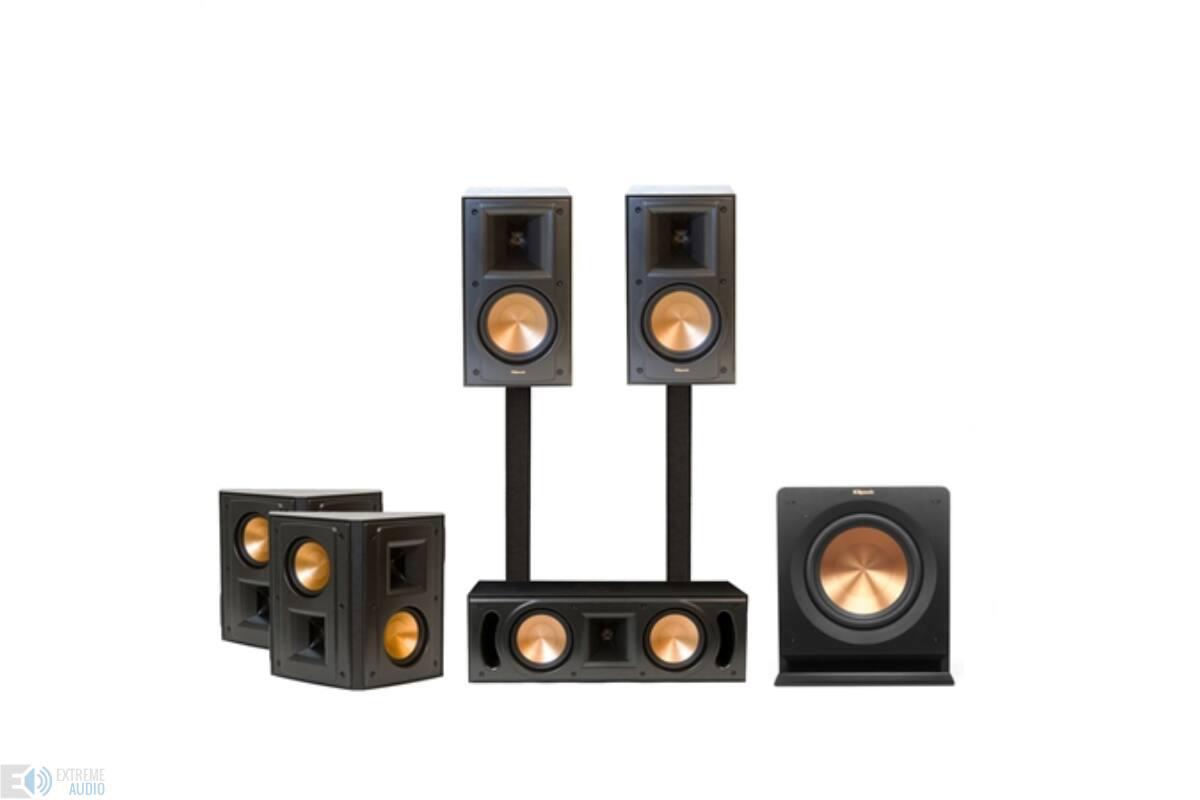 klipsch rb 51 ii 5 1 szett fekete hangfal szettek. Black Bedroom Furniture Sets. Home Design Ideas
