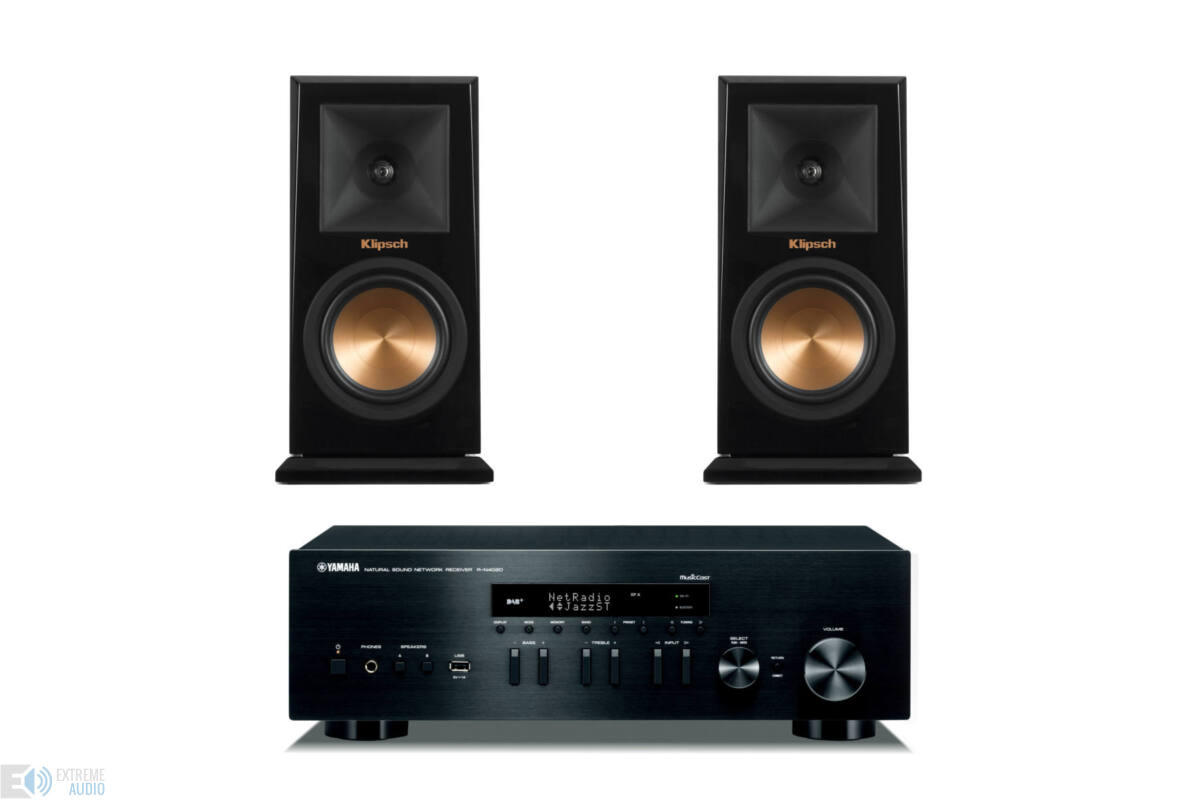 yamaha r n402d fekete klipsch rp 150m zongoralakk fekete. Black Bedroom Furniture Sets. Home Design Ideas