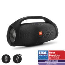 JBL BoomBox vízálló hordozható Bluetooth hangszóró, fekete