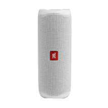 JBL Flip 5 vízálló bluetooth hangszóró (Steel White), fehér