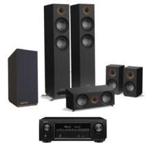 Jamo S 807 HCS + S 808 SUB 5.1 fekete szett + Denon AVR-X1400H fekete házimozi erősítő