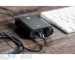 FiiO K3 DAC+AMP Asztali fejhallgató erősítő D/A konverterrel, fekete (Bemutató darab)