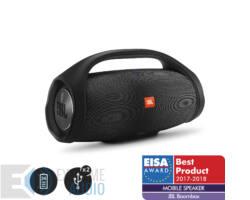 JBL BoomBox vízálló hordozható Bluetooth hangszóró, fekete DEMO