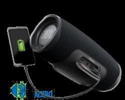JBL Charge 4 vízálló hordozható Bluetooth hangszóró fekete, (csomagolás sérült)