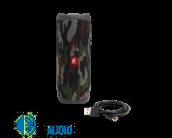 JBL Flip 5 vízálló bluetooth hangszóró (Squad), terepszín (Bemutató darab)