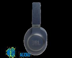 JBL Live 650BTNC zajszűrős Bluetooth fejhallgató, kék (Bemutató darab)