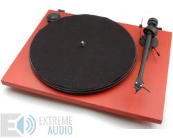 Pro-Ject Essential II analóg lemezjátszó piros Ortofon OM-5e