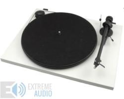 Pro-Ject Essential II analóg lemezjátszó fehér Ortofon OM-5e