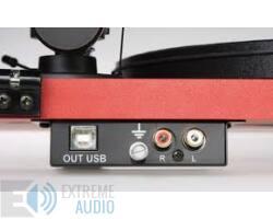 Pro-Ject Essential II Phono USB analóg lemezjátszó matt piros Ortofon OM-5e