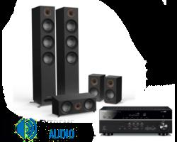 Jamo S 809 HCS 5.0 fekete + Yamaha RX-V385 fekete házimozi szett