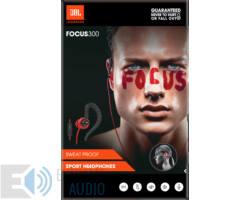 JBL Focus 300 sport fülhallgató, piros/fekete