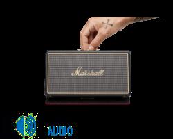 MARSHALL Stockwell  Hordozható Bluetooth hangszóró + Flip-tok, fekete (Bemutató darab)