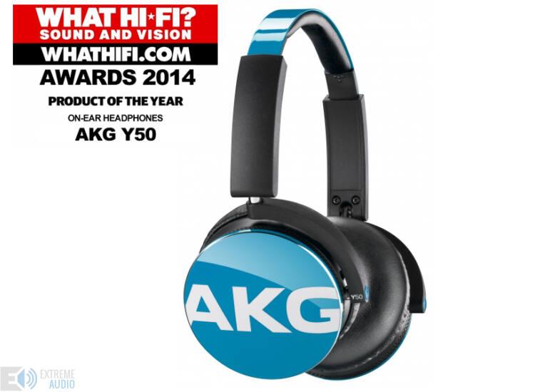 AKG Y50 fejhallgató, kék