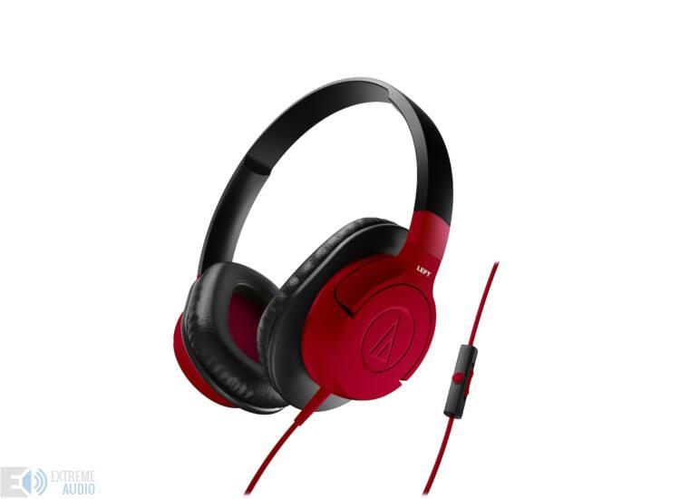 Audio-Technica ATH-AX1IS fejhallgató, piros