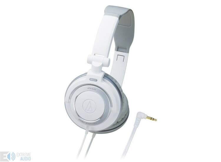 Audio-Technica ATH-SJ55 DJ fejhallgató, fehér