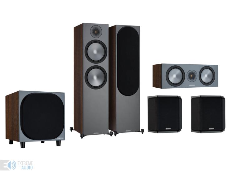 Denon AVR-S950H + Monitor Audio Bronze 500 5.1 házimozi szett, dió