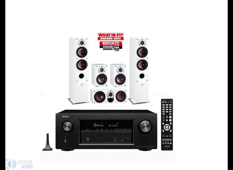 Denon X2300W 7.2 házimozi erősítő + Dali Zensor 7 5.0-ás hangfal szett fehér