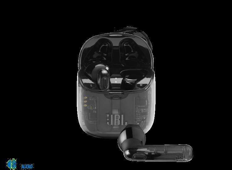 JBL TUNE 225TWS Ghost Edition fülhallgató, átlátszó-fekete (csomagolás sérült)